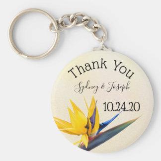 Chaveiro obrigado do Pássaro--paraíso você favor do anel