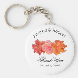 Chaveiro Obrigado pessoal do hibiscus alaranjado você favor