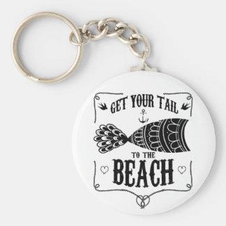 Chaveiro Obtenha sua cauda à praia