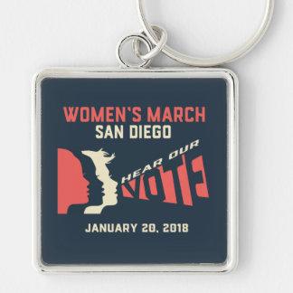 Chaveiro oficial do março San Diego março das