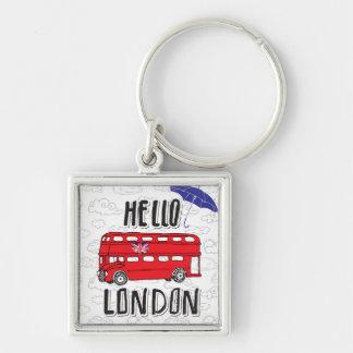 Chaveiro Olá! sinal indicado por letras da mão de Londres |