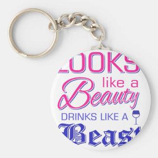 Chaveiro Olha como bebidas de uma beleza como um animal