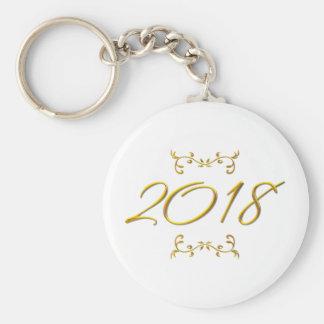 Chaveiro Olhar 3-D dourado 2018