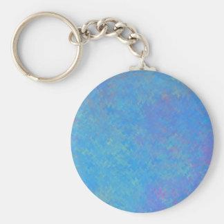 Chaveiro Olhar bonito do papel marmoreado do azul