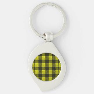 Chaveiro Olhar Checkered de serapilheira do teste padrão do