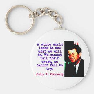 Chaveiro Olhares inteiros de um mundo - John Kennedy