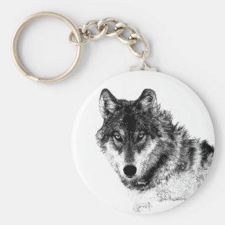 Chaveiro Olhos inspirados brancos pretos do lobo