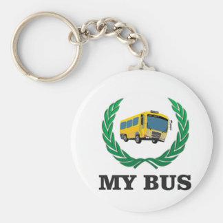 Chaveiro ônibus amarelo meu