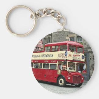 Chaveiro Ônibus de excursão de Edimburgo do vintage,
