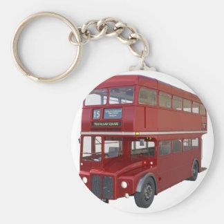Chaveiro Ônibus vermelho do autocarro de dois andares no