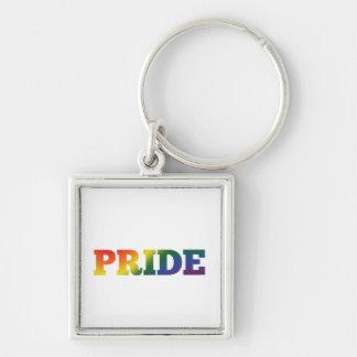 Chaveiro Orgulho gay do arco-íris no branco