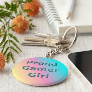 Chaveiro orgulhoso da menina do Gamer