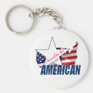 Chaveiro Orgulhoso ser um americano
