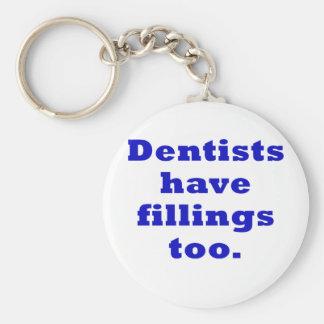 Chaveiro Os dentistas têm enchimentos demasiado
