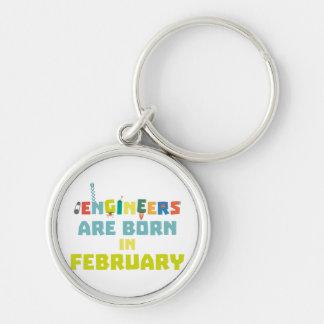 Chaveiro Os engenheiros são em fevereiro Zbv9q nascidos