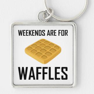 Chaveiro Os fins de semana são para Waffles