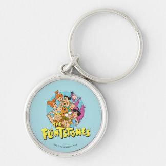 Chaveiro Os Flintstones e o gráfico da família dos Rubbles
