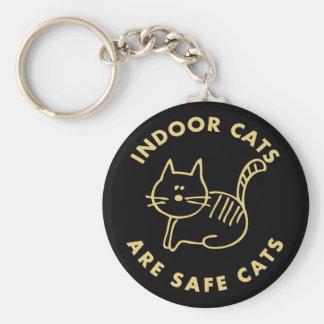 Chaveiro Os gatos internos são gatos seguros
