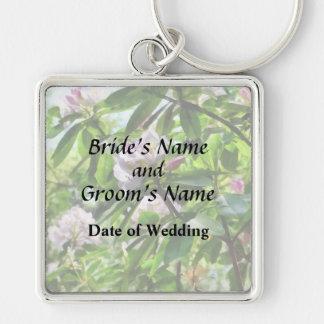 Chaveiro Os rododendros estão em produtos do casamento da