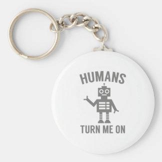 Chaveiro Os seres humanos giram-me sobre