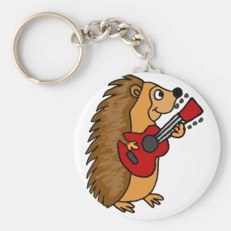Chaveiro Ouriço bonito que joga a arte da guitarra