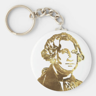 Chaveiro Ouro americano do retrato do presidente George