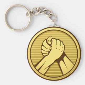 Chaveiro Ouro da luta de braço