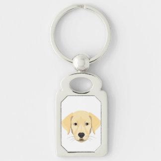 Chaveiro Ouro Retriver do filhote de cachorro da ilustração