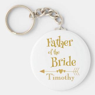 Chaveiro Pai da lembrança do casamento da noiva