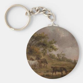 Chaveiro Paisagem com os quatro cavalos por George Morland