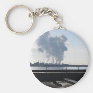 Chaveiro Paisagem industrial ao longo da costa