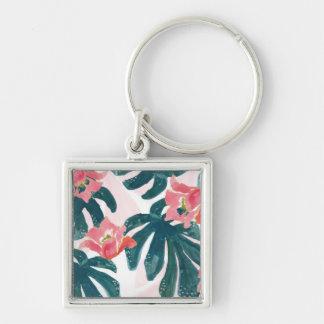 Chaveiro Palma tropical da aguarela, Hibiskus havaiano