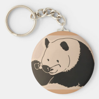 Chaveiro Panda legal com máscaras