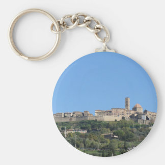 Chaveiro Panorama da vila de Volterra, província de Pisa