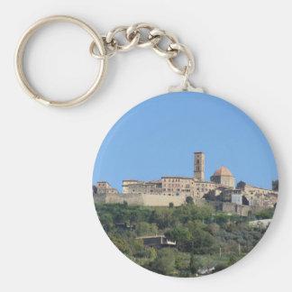 Chaveiro Panorama da vila de Volterra. Toscânia, Italia
