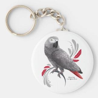 Chaveiro Papagaio do cinza africano