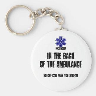 Chaveiro Para trás da ambulância ninguém pode ouvi-lo