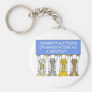 Chaveiro Parabéns na graduação como um dentista