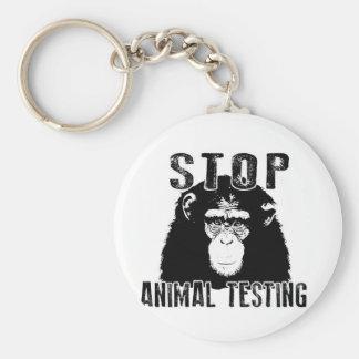 Chaveiro Pare o teste animal - chimpanzé