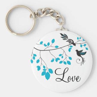 Chaveiro Pássaros azuis do amor