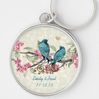 Chaveiro Pássaros do amor do vintage que Wedding a corrente