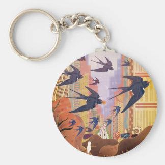 Chaveiro Pássaros que voam na cidade