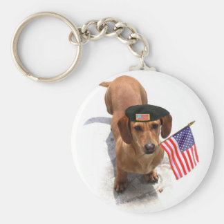 Chaveiro patriótico do dachshund