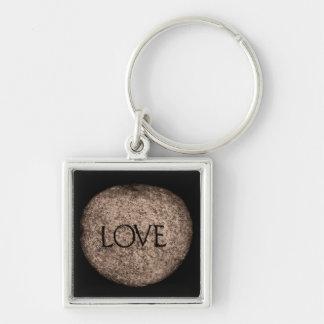 """Chaveiro Pedra cinzelada do """"amor"""""""