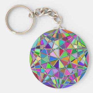 Chaveiro Pedra de gema tirada Kaleidescope colorida