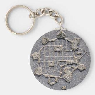 Chaveiro Pedra de pavimentação do mapa da citadela de