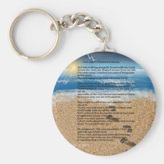 Chaveiro Pegadas na areia