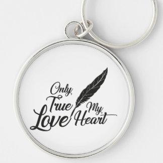 Chaveiro Pena verdadeira do amor da ilustração
