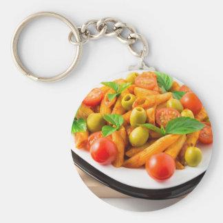 Chaveiro Penne italiano da massa no molho de tomate com