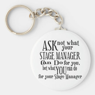Chaveiro Pergunte não a gerente de palco